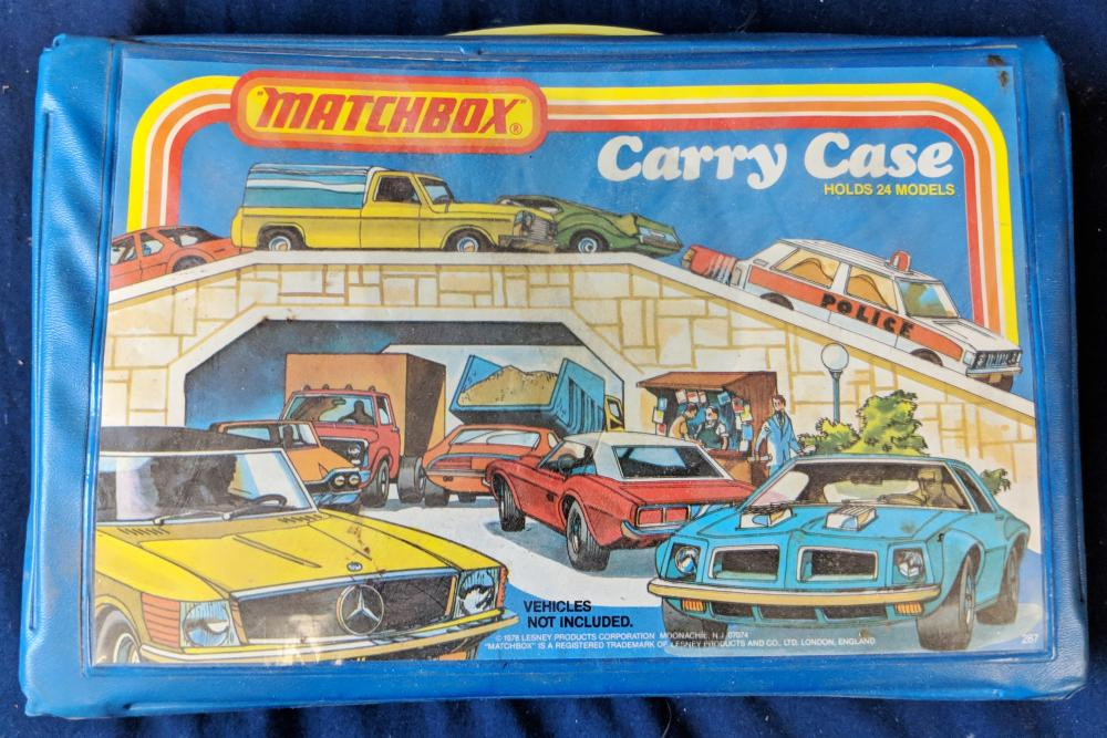 Lot 20: 2 Empty Matchbox Cases & 1 Small Case w/ Cars