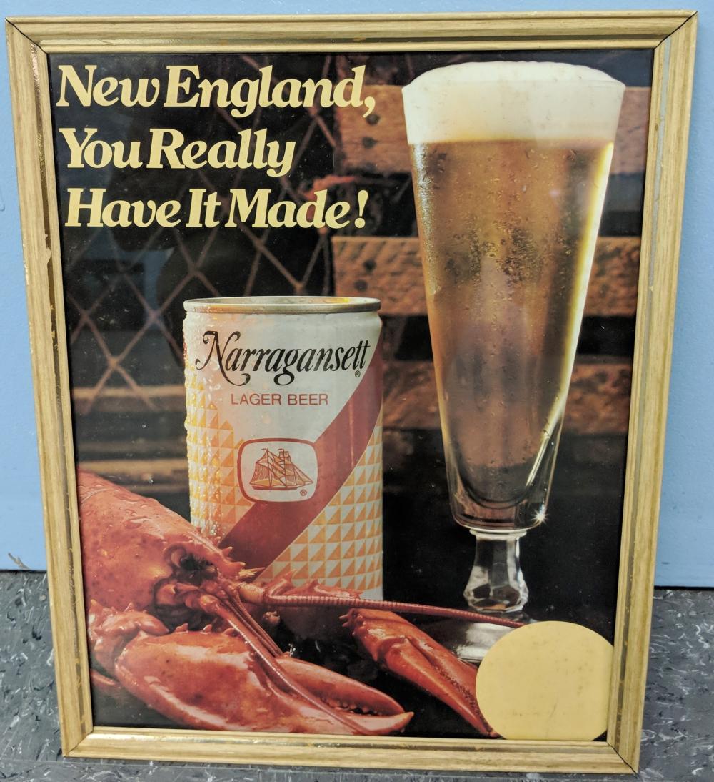 Narragansett Beer Advertising Stand Up