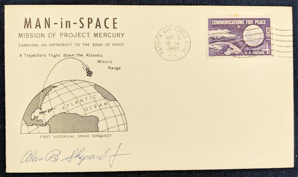 1961 Man in Space FDC Signed Alan B. Shepard Jr.