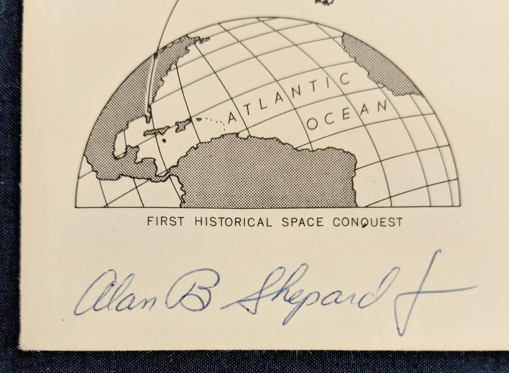 Lot 24: 1961 Man in Space FDC Signed Alan B. Shepard Jr.