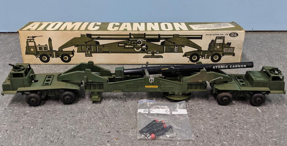 Ca. 1958 Ideal Atomic Cannon Toy w/ Box