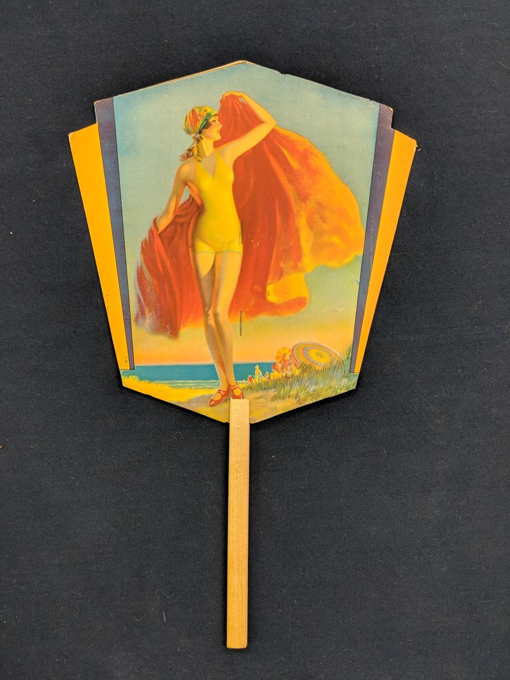 Art Deco Style 7Up Advertisement Fan