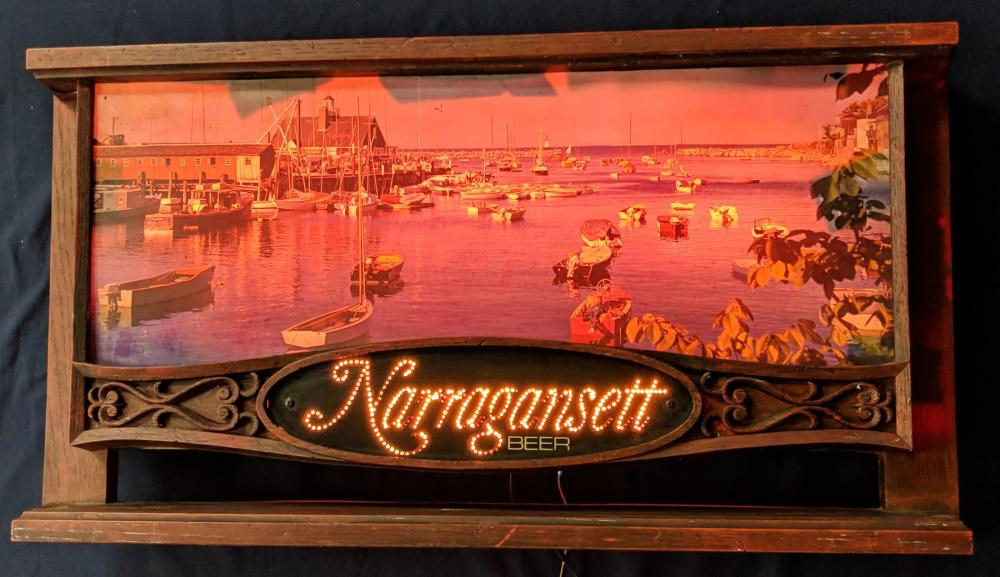 Lighted Narragansett Beer Sign
