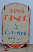 Lot 31: Large Double Sided Wooden Diner Sign