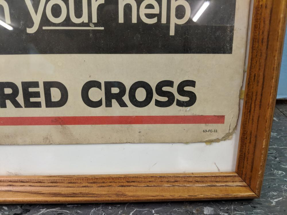 Lot 33: Red Cross Advertisement Poster