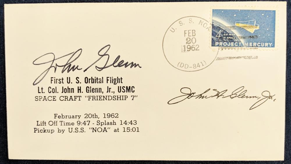 1962 Project Mercury FDC Signed John Glen & John Glen Jr.