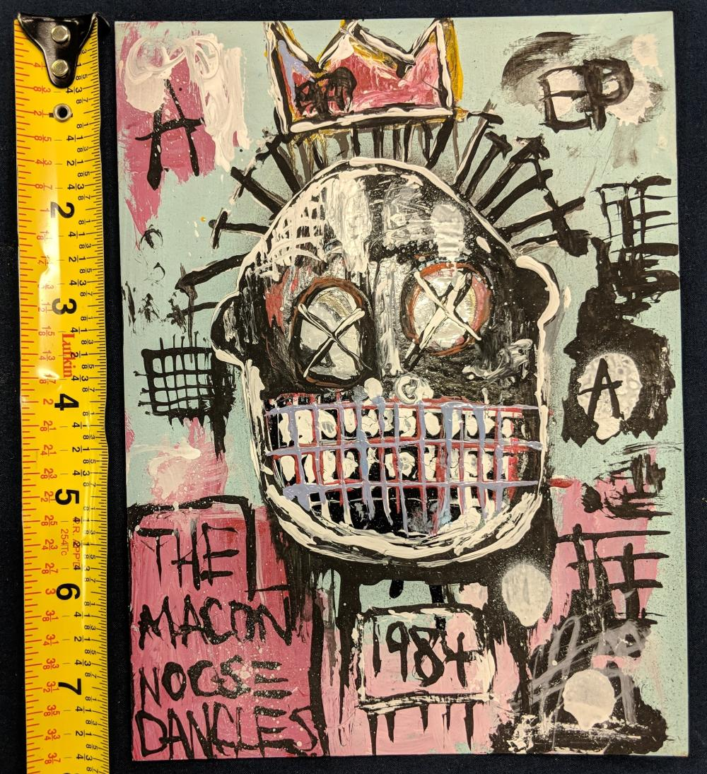Lot 40: Jean-Michel Basquiat Artwork Depicting a Man with a Crown.