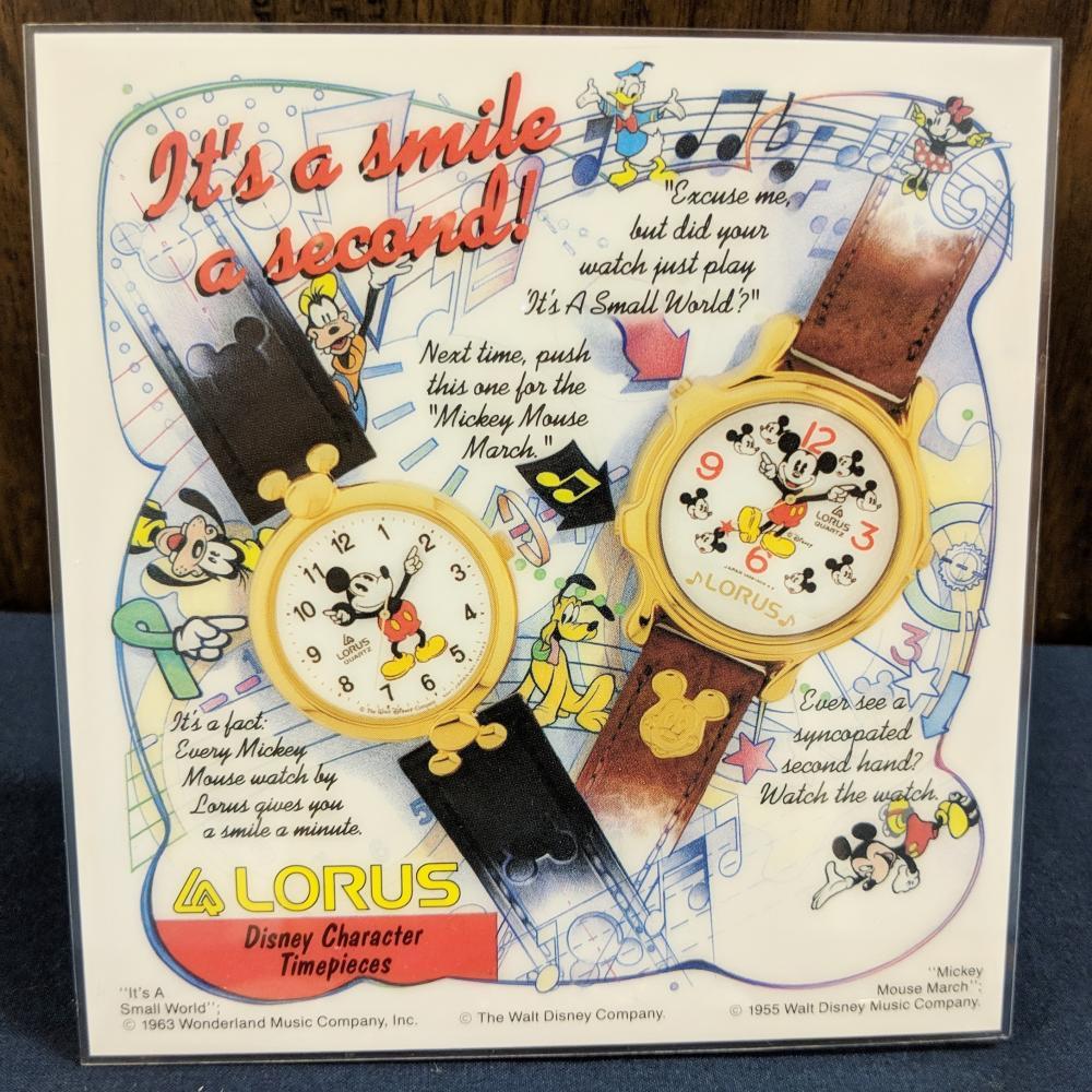 Lot 42: 2 Lorus Disney Watches w/ Display