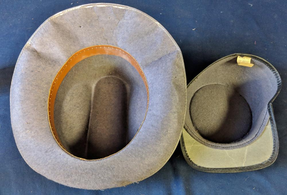 Lot 45: Two 1960s Benat Albee Toy Confederate Hats