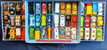 Lot 46: Matchbox Carry Case w/ Cars