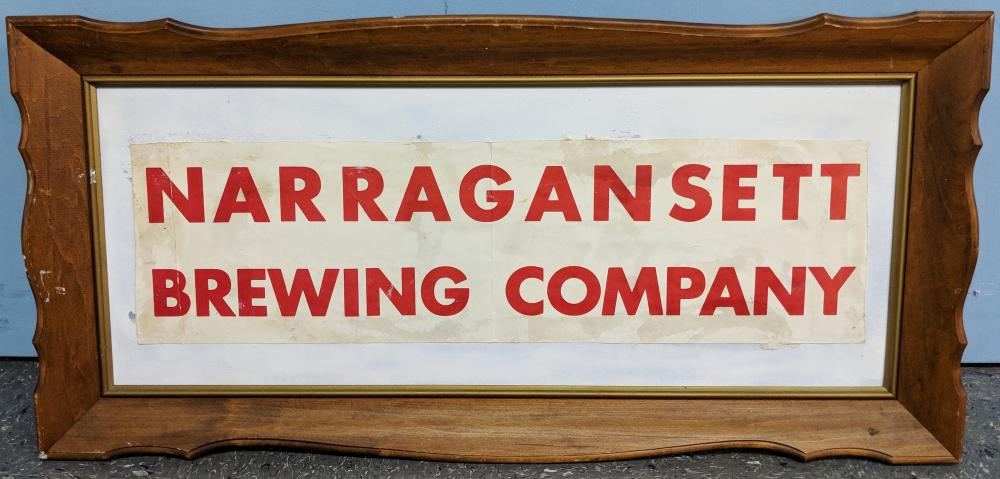 Narragansett Brewing Company Sign