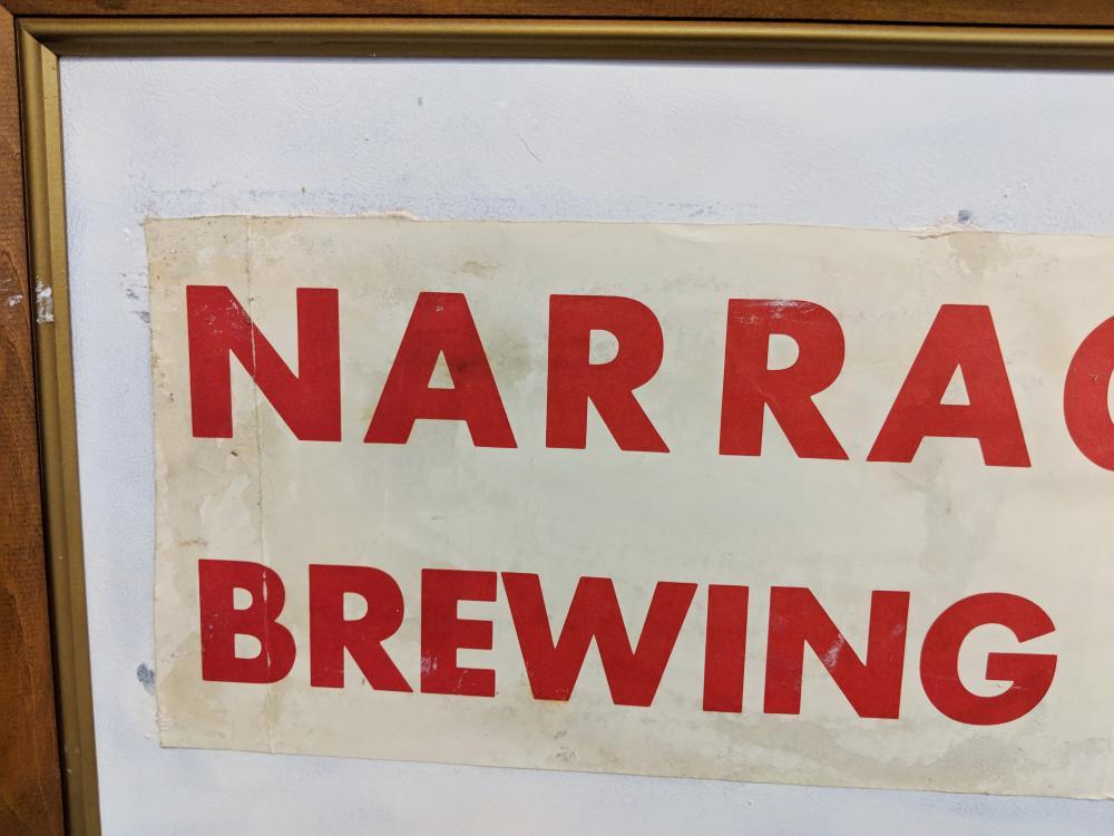 Lot 47: Narragansett Brewing Company Sign