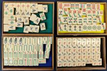 Lot 61: Mahjong Game Pieces in Case