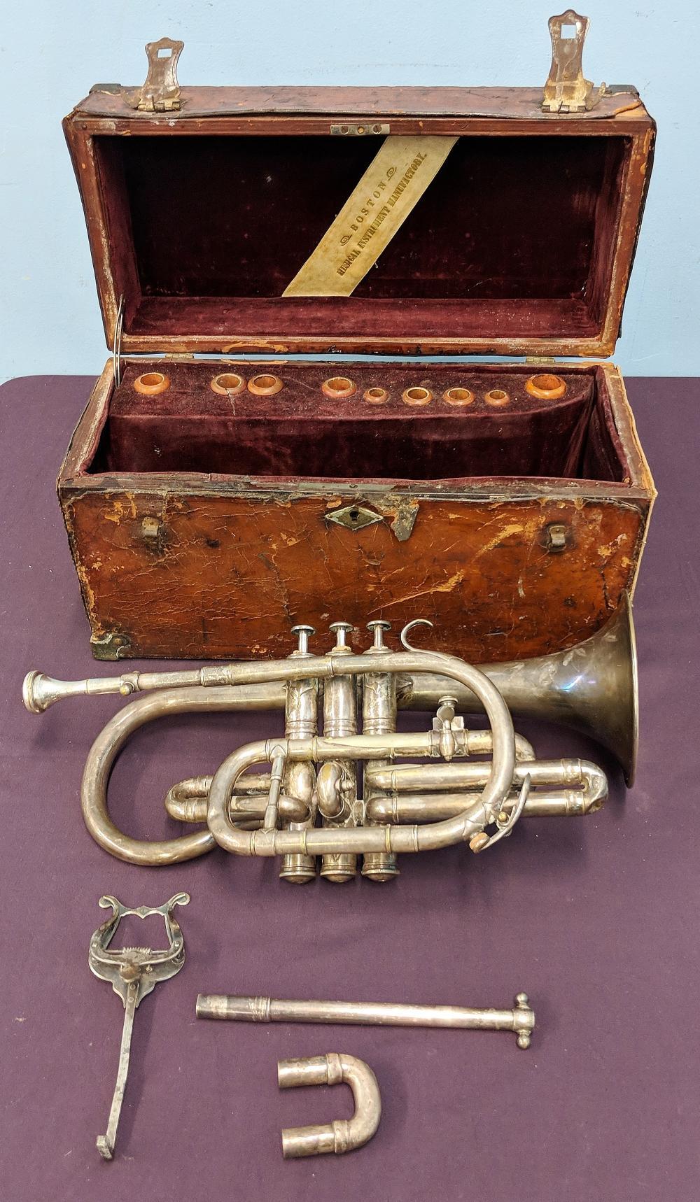 Ca. 1900 Besson Bb Cornet in Original Case