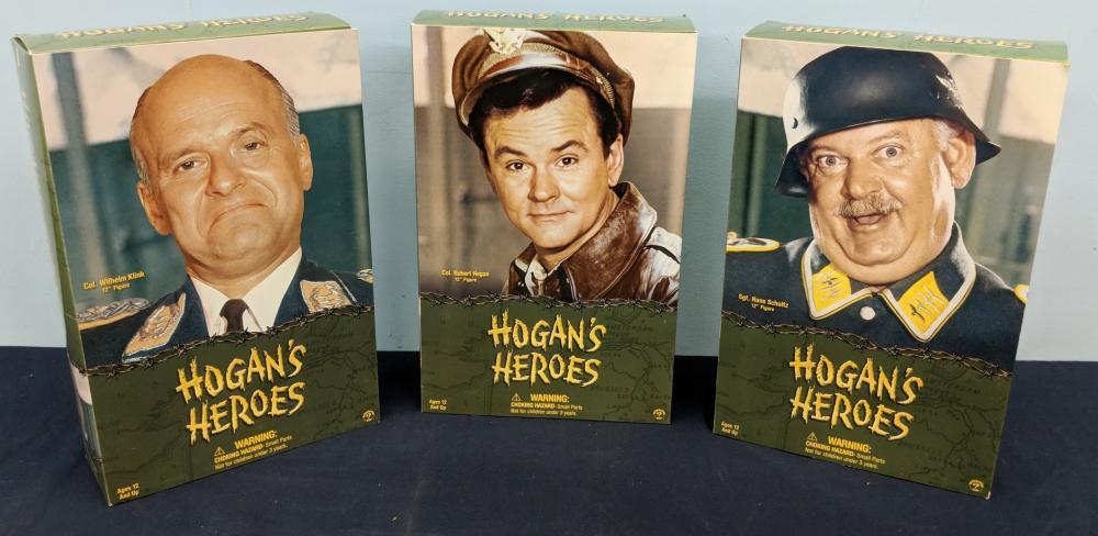Three Hogan's Heroes Figures in Box