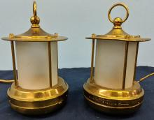 Lot 74: Pair of Small Electric Lanterns