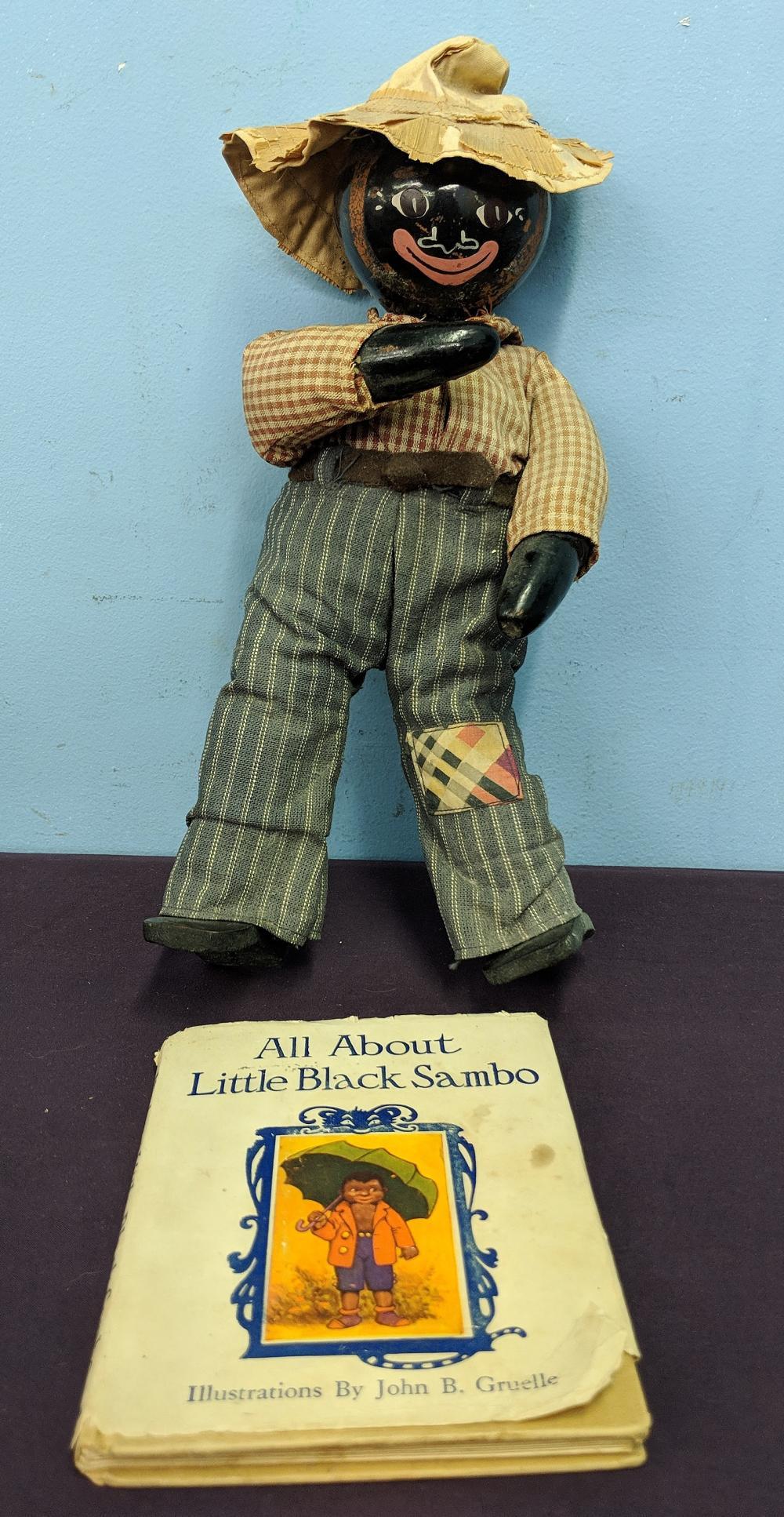 1917 Little Black Sambo Book & Doll