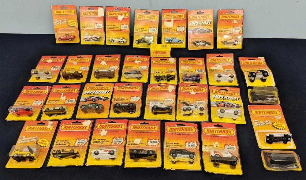 Lot of Mostly in Box Matchbox Cars