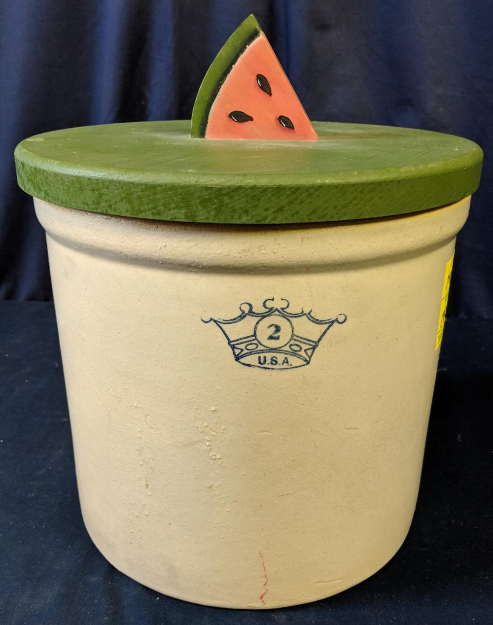 Lot 84: Two Gallon Crock w/ New Cover