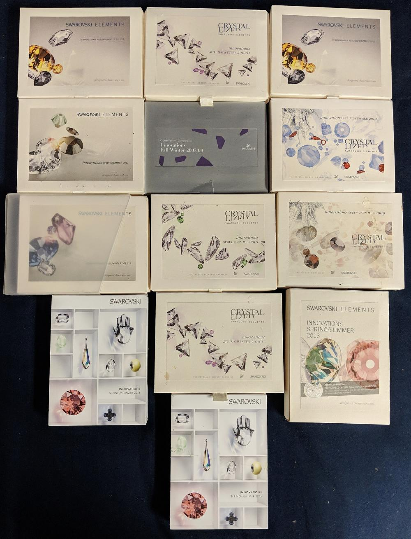 13 Boxes of Swarovski Crystal Elements