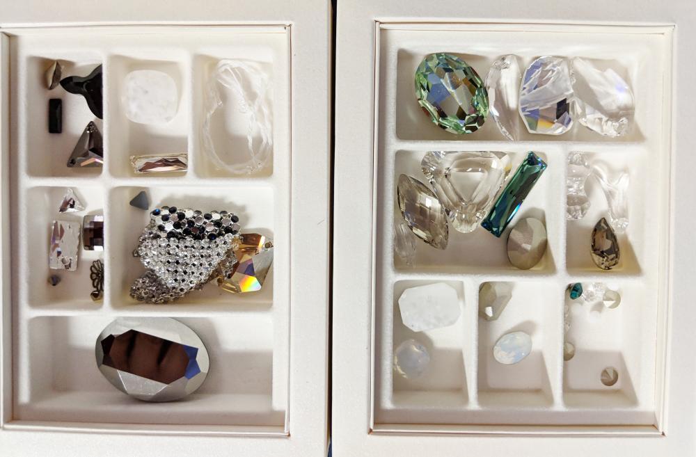Lot 91: 3 Large Boxed Swarovski Crystal Elements