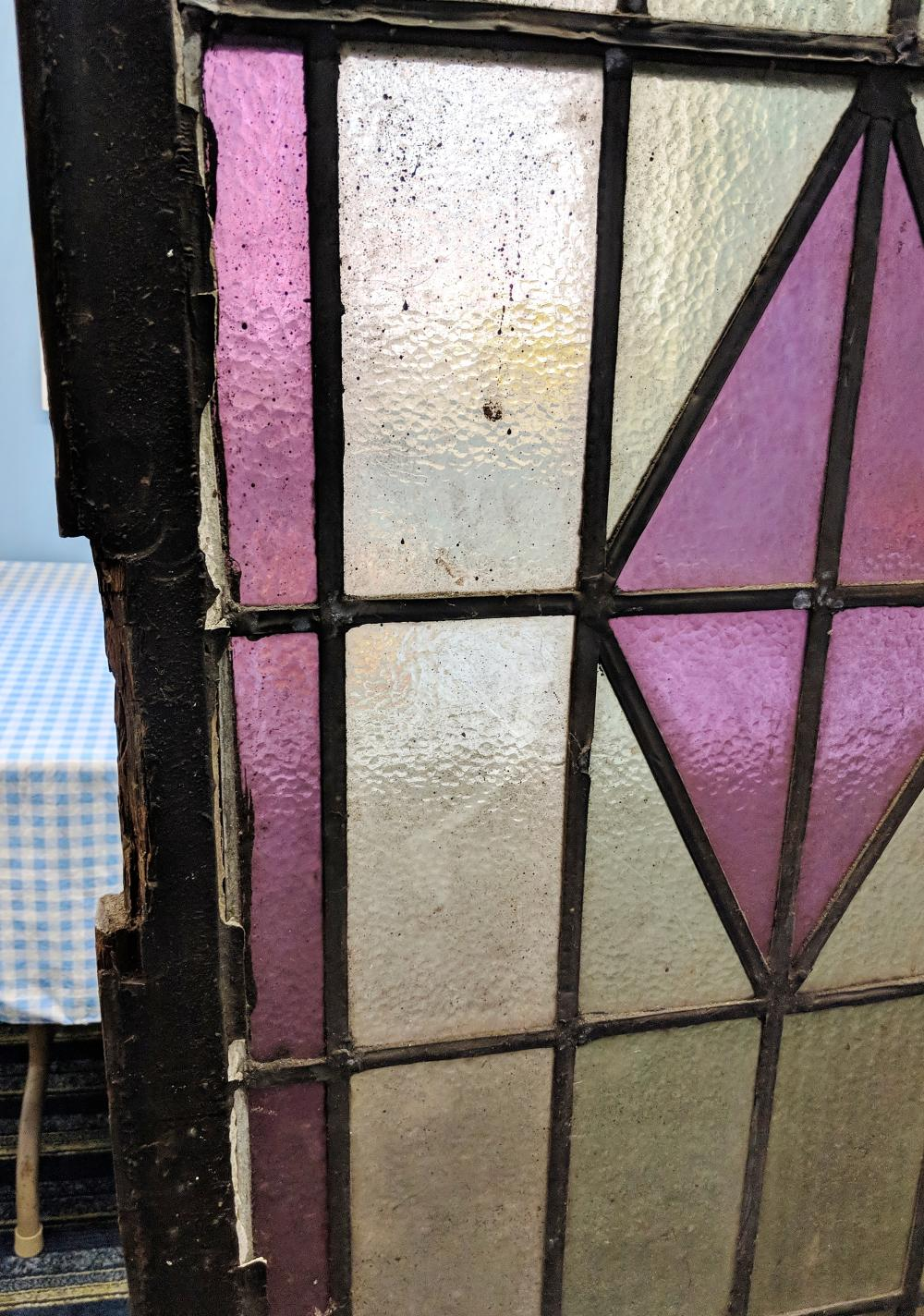 Lot 20A: Antique Church Stained Glass Window