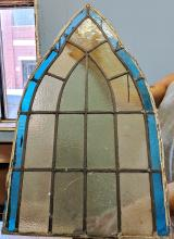 Lot 96: Antique Church Stained Glass Window