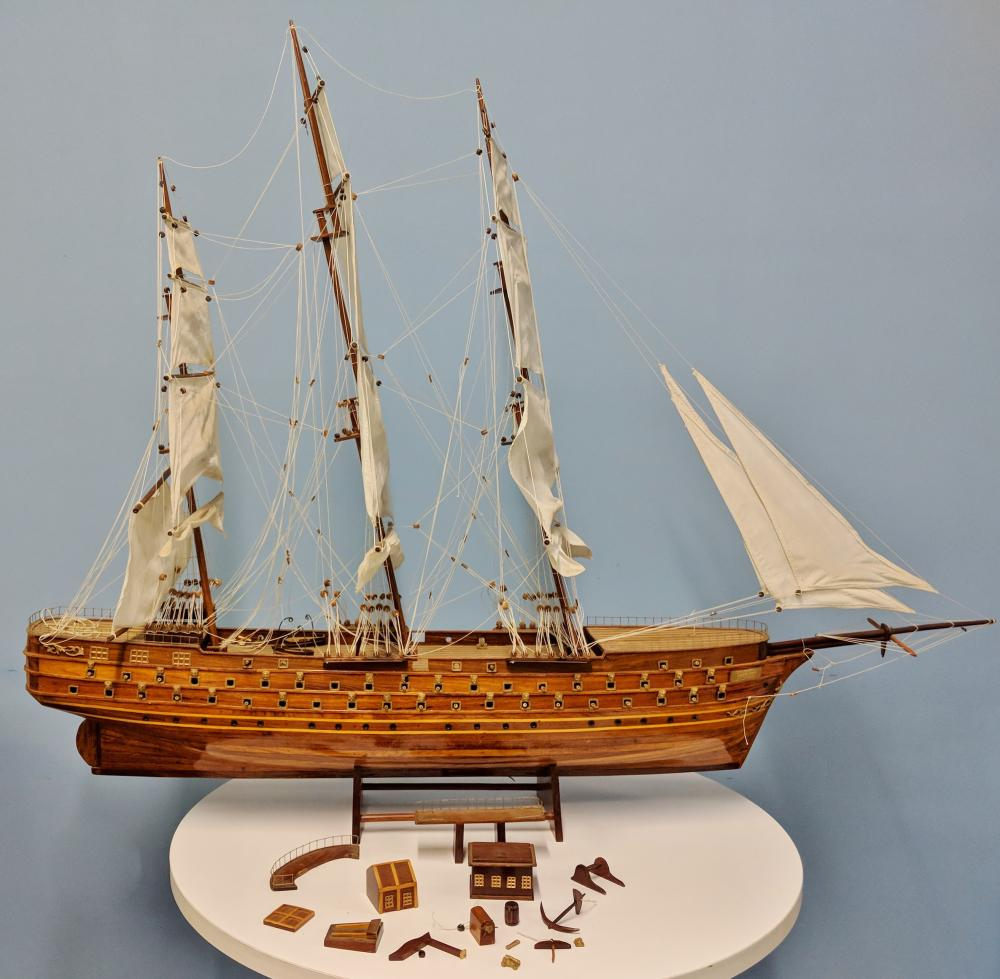 Large Model Ship on Stand
