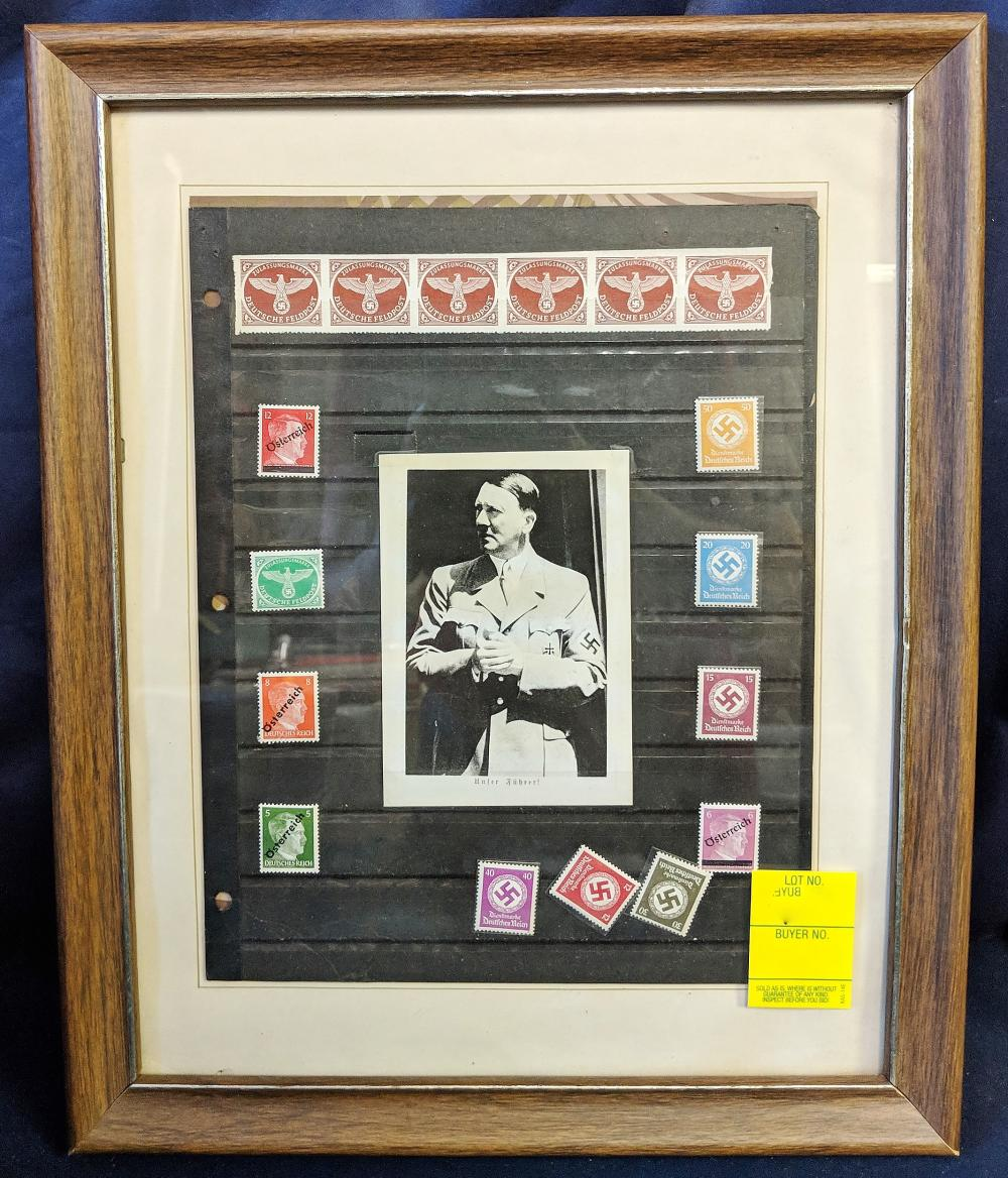 Lot 97: German Stamp Collection in Frame