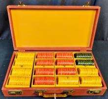 Lot 30A: Case Full of Catalin Poker Chips
