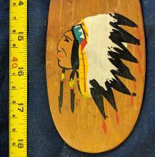 Lot 85A: Early Native American Souvenir Paddle