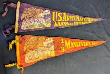 Lot 100: Two Military Pennants