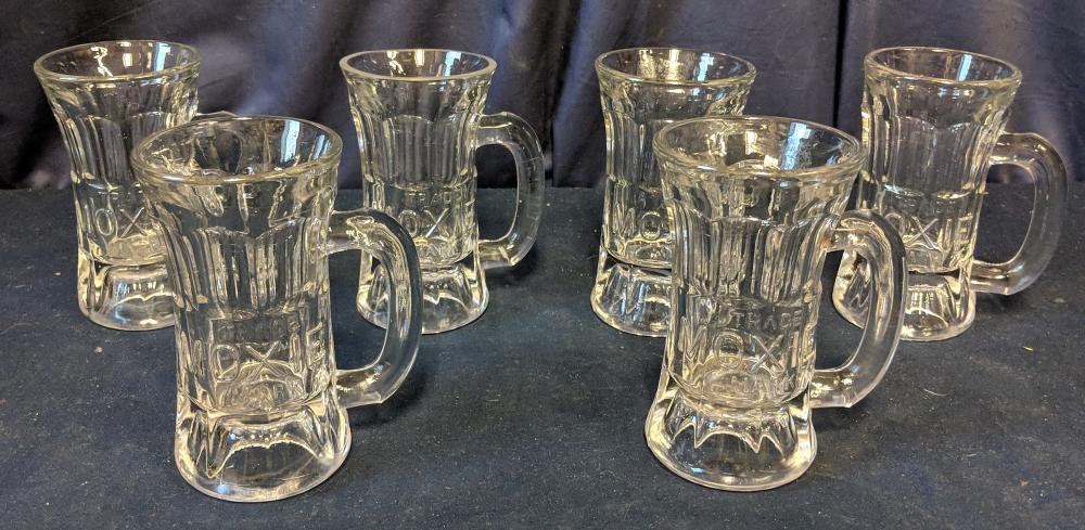 6 Moxie Glass Mugs