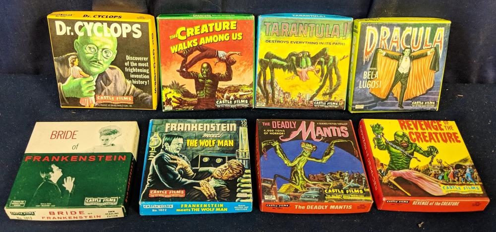 Eight 1940s-50s Monster Movie Reels