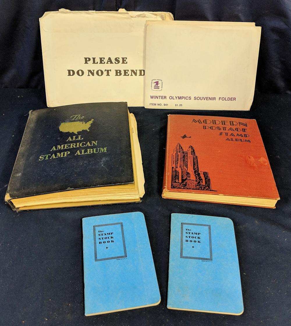 Stamp Albums, Stock Books & More