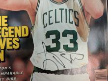Lot 11: Tom Brady and Larry Bird Signatures