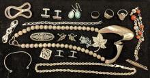 Lot 61A: Lot of Beautiful Sterling Jewelry