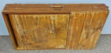 Lot 110: Scary Antique Folding Embalming Table
