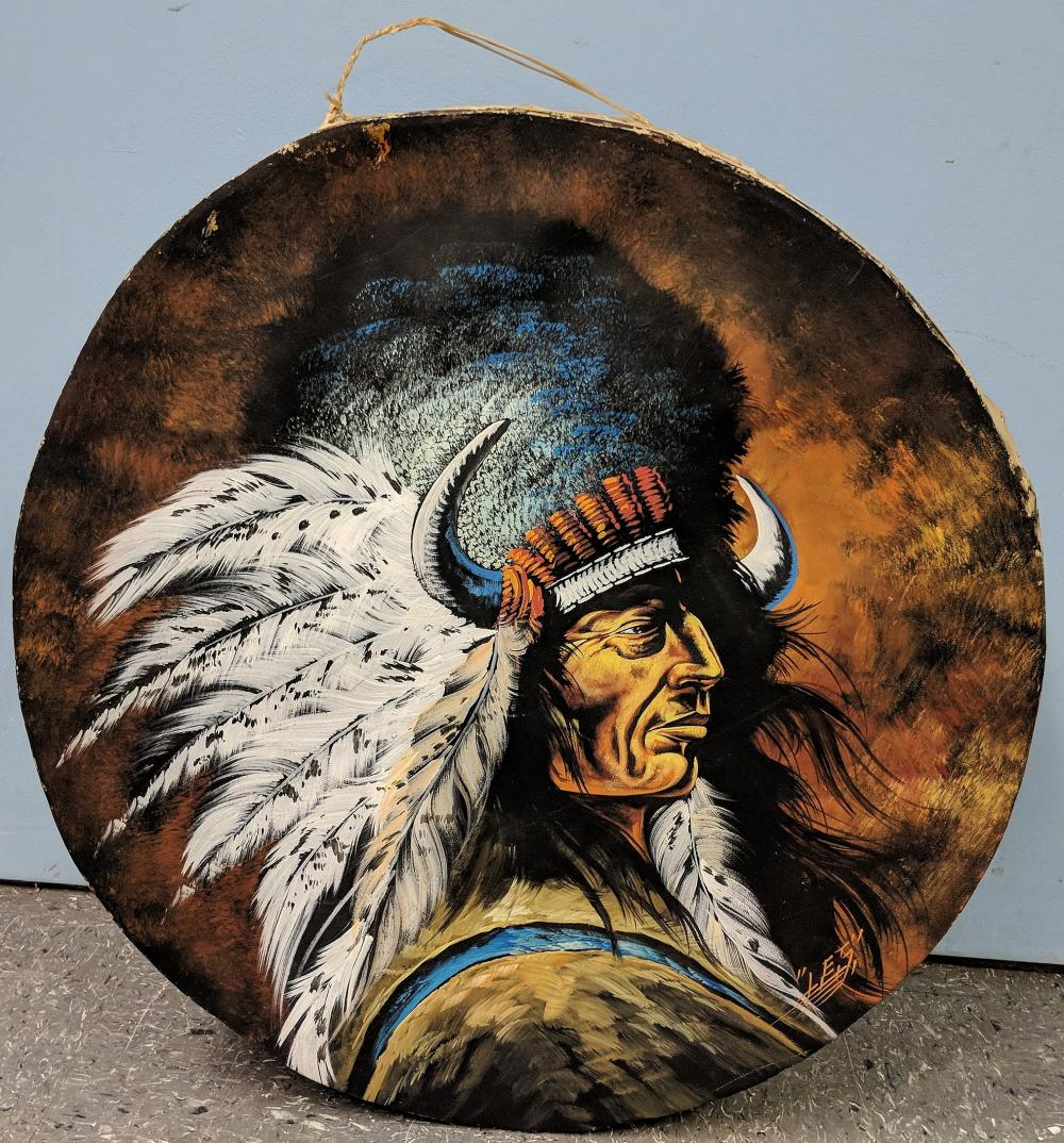 Hand Painted Native American Drum
