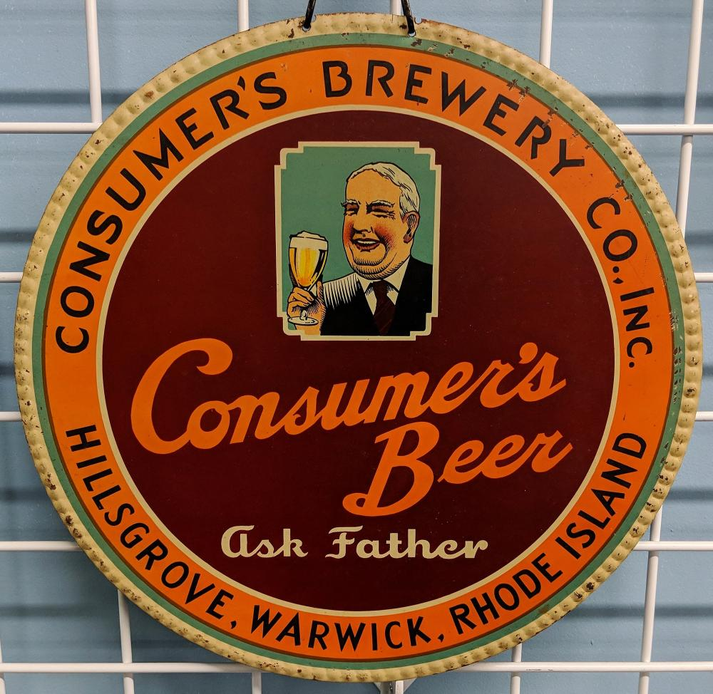 Ask Father Beer Tin Sign