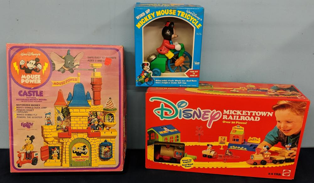 3Pc. 1970S Disney Toys w/ Boxes