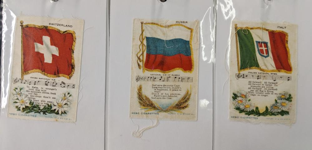 Lot 124: Flags of Countries Tobacco Silks