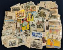 Lot 123: Large Lot of Early Post Cards