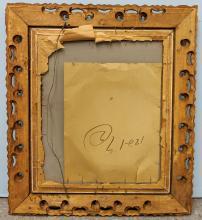 Lot 125: Large Antique Mirror