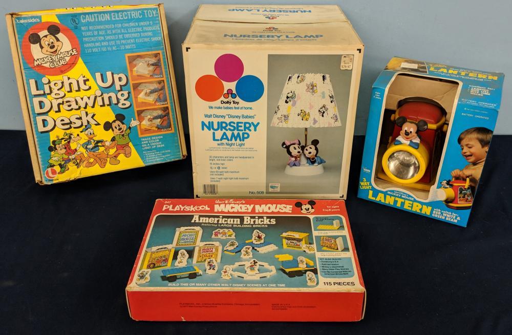 4pc. 1970S Disney Toys w/ Boxes
