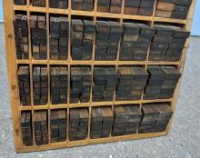 Lot 133: Print Block Cabinet w/ Blocks