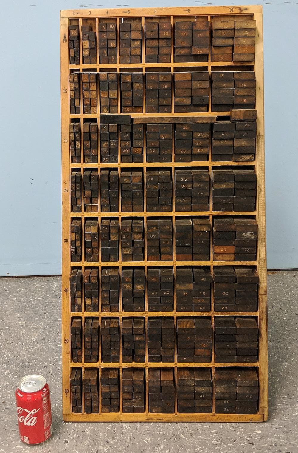 Print Block Cabinet w/ Blocks