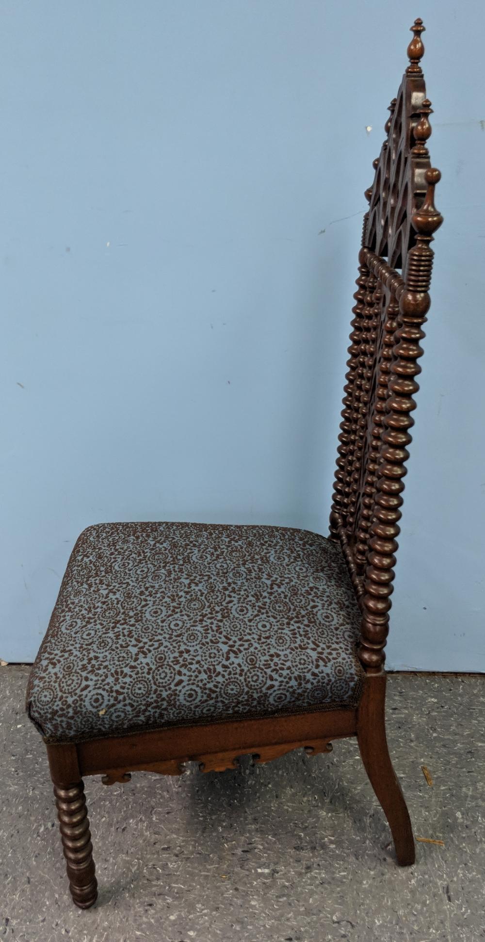 Lot 135: Antique Gothic Chair
