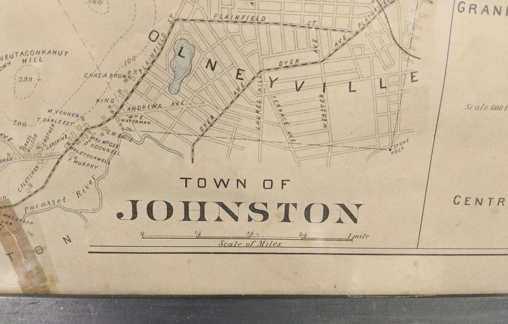 Lot 139: Old Town of Johnston Map