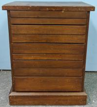 Lot 137: Table Top Print Type Cabinet